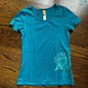 Like New Lucy Short Sleeve Teal Active Tee, XS